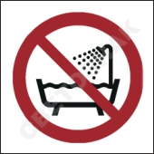 P026 Не использовать в ванне, душе или резервуаре с водой/Do not use this device in a bathtub, shower, or water-filled reservoir